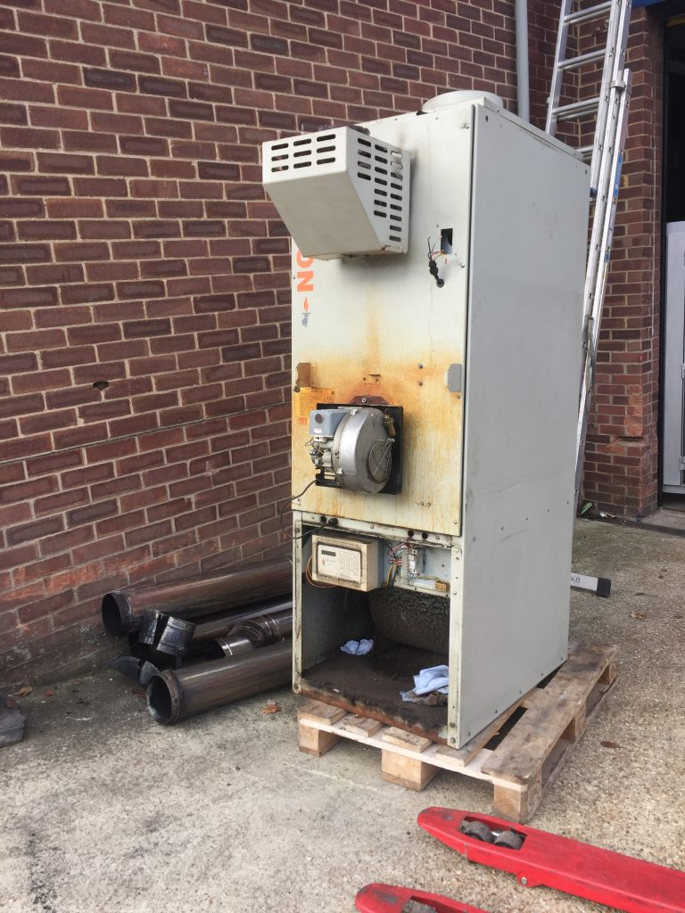 Engineering Workshop, Winchester Hampshire Replacement Oil Fired Cabinet Heater