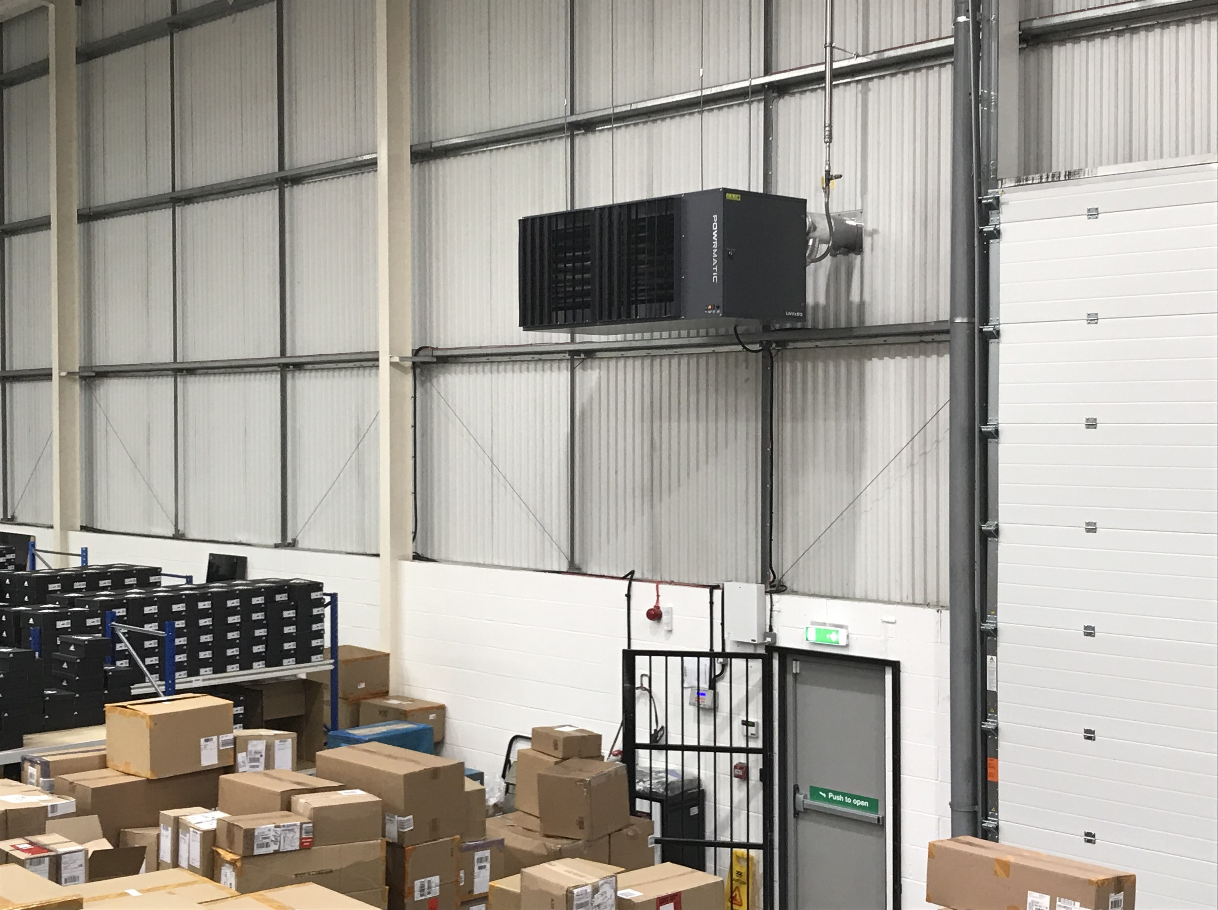 Powrmatic Gas (Natural and LPG) and Oil Fired Warm Air Unit Heaters