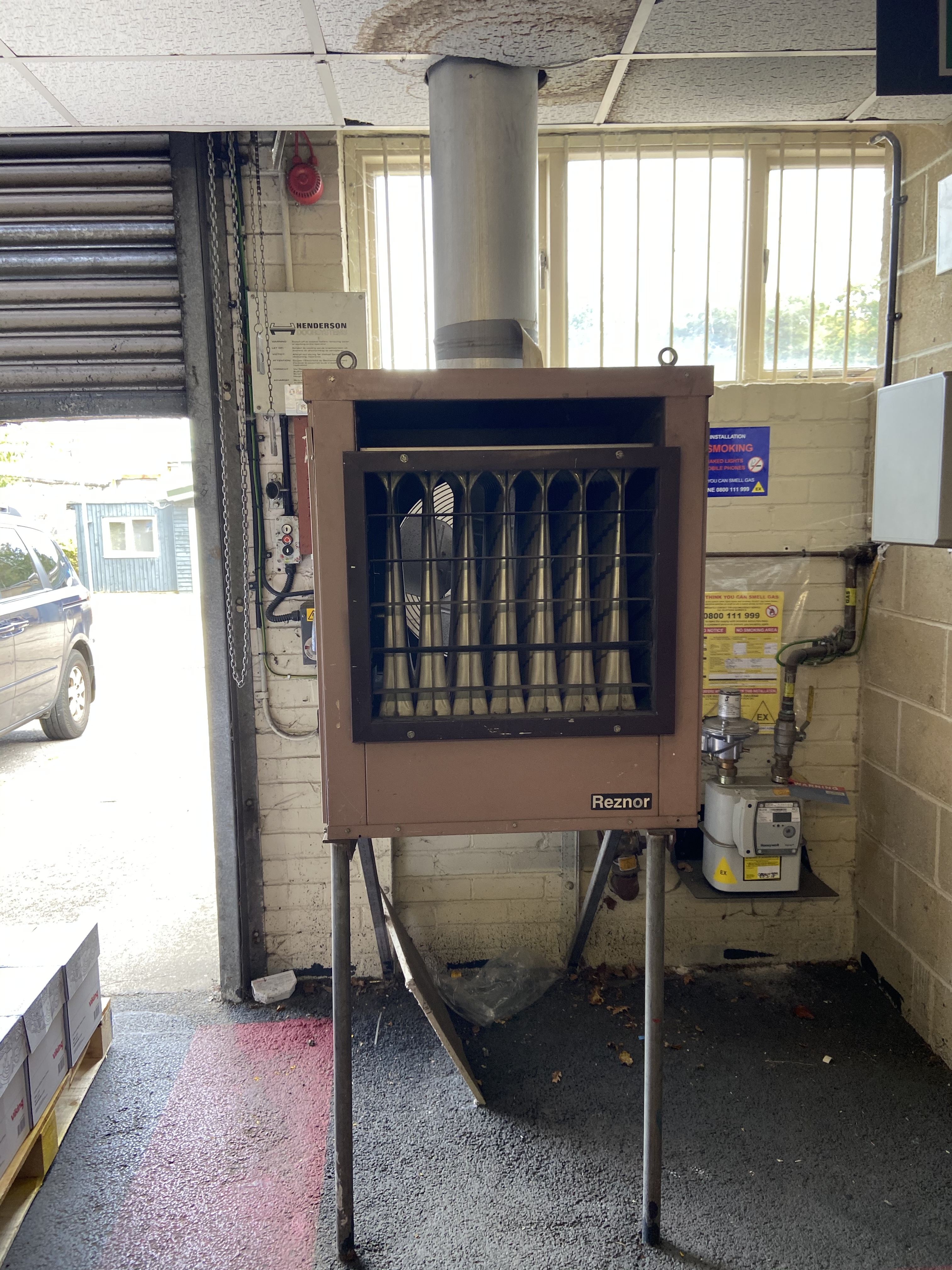 Reznor - replacement of 2 off suspended heaters and 1 off cabinet heater - Dorseet