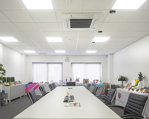 Manufacturing Facility, Installation Of Radiant Heating & Air Conditioning Aldershot Hampshire