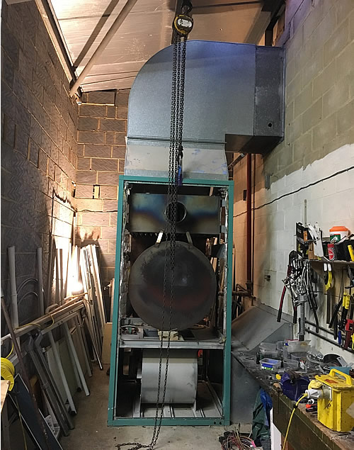 Gymnasium, Aldershot Hampshire - Replacement Heater